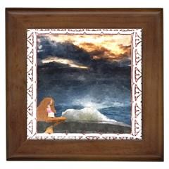 Stormy Twilight [Framed] Framed Ceramic Tile by mysticalimages