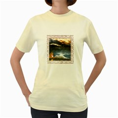 Stormy Twilight [framed]  Womens  T Shirt (yellow)
