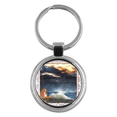 Stormy Twilight [framed] Key Chain (round) by mysticalimages