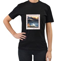 Stormy Twilight [framed] Womens' Two Sided T Shirt (black) by mysticalimages