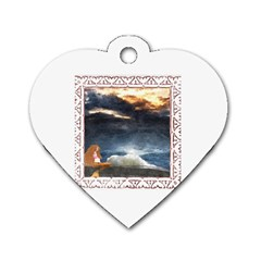 Stormy Twilight [framed] Dog Tag Heart (one Sided)