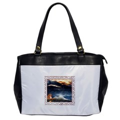 Stormy Twilight [framed] Oversize Office Handbag (one Side) by mysticalimages