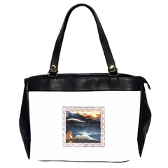 Stormy Twilight [framed] Oversize Office Handbag (two Sides) by mysticalimages