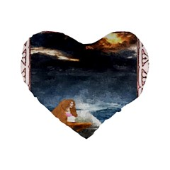 Stormy Twilight [framed] 16  Premium Heart Shape Cushion  by mysticalimages