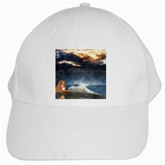 Stormy Twilight  White Baseball Cap by mysticalimages