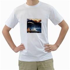 Stormy Twilight  Mens  T Shirt (white) by mysticalimages
