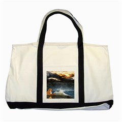 Stormy Twilight  Two Toned Tote Bag by mysticalimages