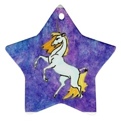 Unicorn II Star Ornament by mysticalimages