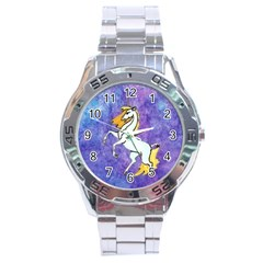 Unicorn Ii Stainless Steel Watch (men s) by mysticalimages
