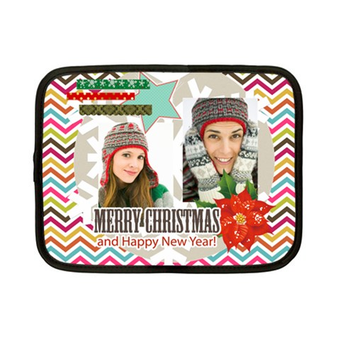 Christmas By Merry Christmas   Netbook Case (small)   Tue4ytakw002   Www Artscow Com Front