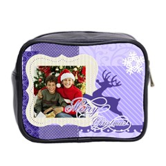 Christmas By Merry Christmas   Mini Toiletries Bag (two Sides)   Zf57b875n8xr   Www Artscow Com Back
