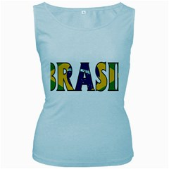 Brazil Womens  Tank Top (baby Blue)