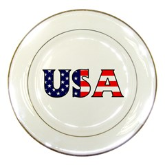 Usa Porcelain Display Plate by worldbanners