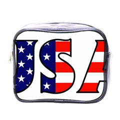 Usa Mini Travel Toiletry Bag (one Side)