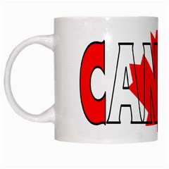 Canada White Coffee Mug by worldbanners