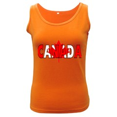 Canada Womens  Tank Top (dark Colored) by worldbanners