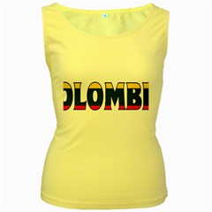 Colombia Womens  Tank Top (yellow) by worldbanners