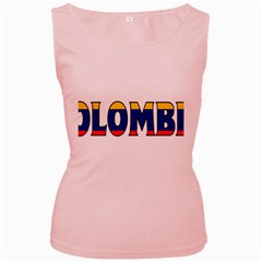 Colombia Womens  Tank Top (pink) by worldbanners