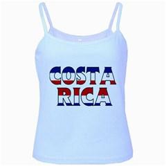 Costa Rica Baby Blue Spaghetti Tank by worldbanners