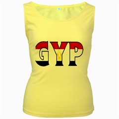 Egypt Womens  Tank Top (yellow) by worldbanners