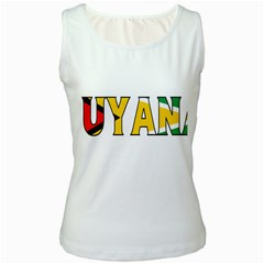 Guyana Womens  Tank Top (white) by worldbanners