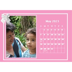 Pink Princess Desktop Calendar (8 5x6) By Deborah   Desktop Calendar 8 5  X 6    Yozpz7we989j   Www Artscow Com May 2017