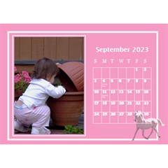 Pink Princess Desktop Calendar (8 5x6) By Deborah   Desktop Calendar 8 5  X 6    Yozpz7we989j   Www Artscow Com Sep 2017