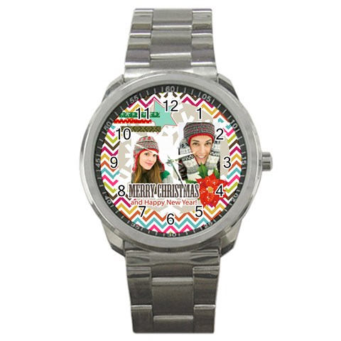 Christmas By Merry Christmas   Sport Metal Watch   4nqfemy0r6ae   Www Artscow Com Front