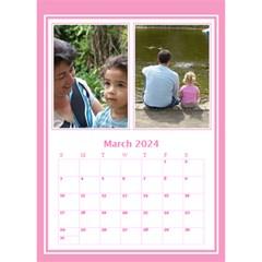 Pink Princess Desktop Calendar By Deborah   Desktop Calendar 6  X 8 5    6rpudw2xztnp   Www Artscow Com Mar 2017