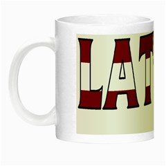 Latvia Glow In The Dark Mug by worldbanners