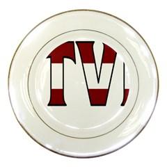 Latvia Porcelain Display Plate