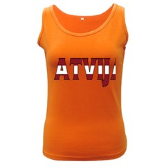 Latvia Womens  Tank Top (dark Colored)