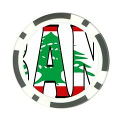 Lebanon Poker Chip 10 Pack by worldbanners