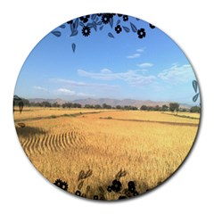 Nature 8  Mouse Pad (round) by Contest1704399