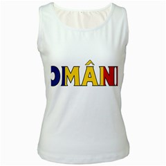 Romania Womens  Tank Top (white) by worldbanners