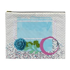 Blue, Pink And Green Cosmetic Bag Xl By Zornitza   Cosmetic Bag (xl)   8nc9cnh3gc5w   Www Artscow Com Front