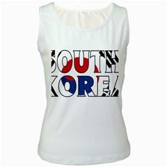South Korea Womens  Tank Top (white)