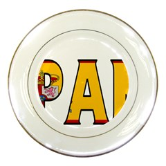 Spain Porcelain Display Plate