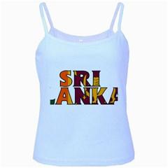 Sri Lanka Baby Blue Spaghetti Tank by worldbanners