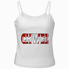 Switzerland 3 White Spaghetti Tank by worldbanners
