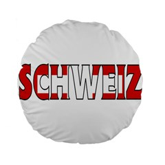 Switzerland 3 15  Premium Round Cushion  by worldbanners