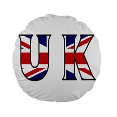 Uk 15  Premium Round Cushion  by worldbanners