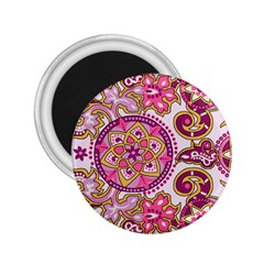 Floral Fantasy 2 25  Button Magnet by Contest1702305