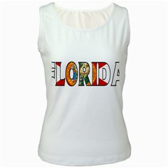 Florida Womens  Tank Top (white) by worldbanners