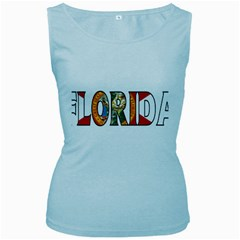 Florida Womens  Tank Top (baby Blue) by worldbanners
