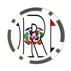 Florida Dominican Republic Poker Chip
