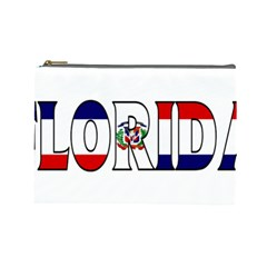 Florida Dominican Republic Cosmetic Bag (large)