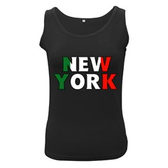 New York Italy Womens  Tank Top (black) by worldbanners