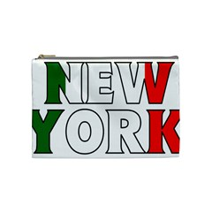 New York Italy Cosmetic Bag (medium) by worldbanners