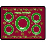 Happy Holiday large blanket - Fleece Blanket (Large)